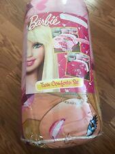 Barbie Twin 3 Piece Comforter Set. A Comforter, A Pillow Sham, And A Bedskirt