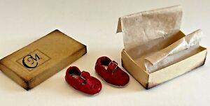 Marie Creutz RED SHOES in CM Shoebox Artisan Dollhouse Miniature 1:12