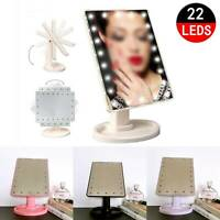 22LED make up mirror Illuminated Make Up Mirror Cosmetic Vanity with Light Stand