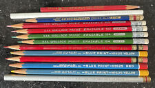13 Vintage Pencil Lot Dixon Thinex Eagle Verithin Colorbrite Faber Best Pencil