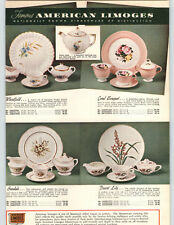 1955 PAPER AD American Limoges China Ovington Fifth Avenue Desert Lily Elegance