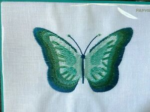 Gorgeous Papyrus Lori Weitzner Birthday card Embroidered & Beaded Butterfly