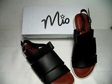 Italienische Damen Sandalette  Gr. 39 schwarz von Mio mit gepolstertem Fußbett