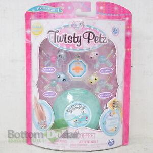 Twisty Petz Series 1 Babies 4Pk Puppies & Pandas Collectible Bracelet Set Aqua