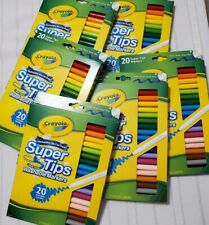 Crayola Super Tips Washable Markers Lot 6 sets of 20 Colors 120 Count Brand New