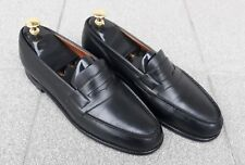 J.M.Weston #180 Calfskin men's Black loafers . Size 8 C