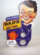 VINTAGE DAD'S ROOT BEER SODA POP BOTTLE TOPPER ADVERTISING SIGN