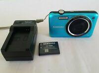 Samsung SL Series SL605 12.2MP Digital Camera - Blue *GOOD/TESTED*