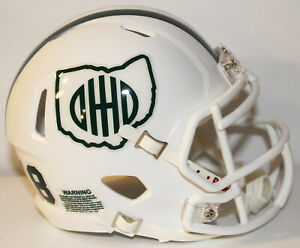2018 Ohio Bobcats Custom Riddell Mini Helmet vs UMass