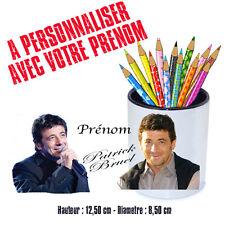 Gobelet stylos ou Brosse à dents personnalisé PATRICK BRUEL V1