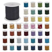 1 Roll 10M Real Leather Cord Thread Jewelry Beading Bracelet Crafts 1/1.5/2/3mm