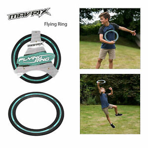 Mavrix Frisbee Ring Flying Black Rubber Aero Throwing Outdoor Family Fun Game