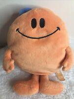 Mr Men Mr Happy Soft Toy orange medium series 2 blue hat 34cm  Beans sitting
