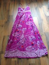 ladies size 8 papaya pink butterfly print maxi dress