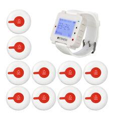 Retekess T128 Restaurant Calling System 1*Watch Receiver+10Call Buttons Service