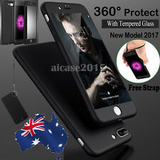 Hybrid 360° New Shockproof Case Tempered Glass Cover For Apple iPhone 6 7 Plus
