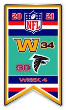 2021 Semaine 4 Bannière Broche NFL Washington Foot Vs.Atlanta Falcons Super Bol