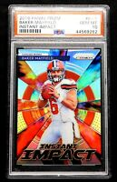 "2018 Baker Mayfield Rookie PSA 10 GEM MINT Prizm Instant Impact ""Flawless"""