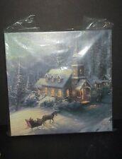 Thomas Kinkade Sunday Evening Sleigh Ride Gallery Wrapped Canvas Winter Print