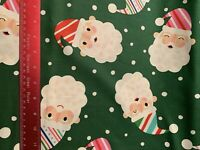 alexander henry Santa Claus Christmas Cotton Fabric bTHY