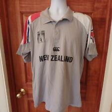 New Zealand Canterbury Cricket Centennial Shirt Stars Sz L 1885-1995