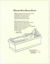 What the Worn Rhymes Found - Signed by Marie Ponsot - Letterpress Broadside Poem