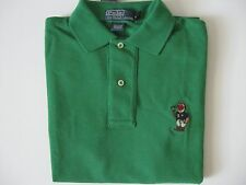 POLO RALPH LAUREN Men's Classic-Fit Green RL14 BEAR Mesh Polo Shirt S