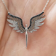 Turkish Handmade Jewelry Archangel Michael Silver Angel Pendant Necklace