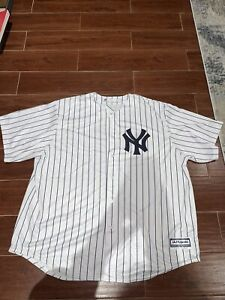 New York Yankees Home Majestic Pinstripe Cool Base Jersey Men's Size 3XL