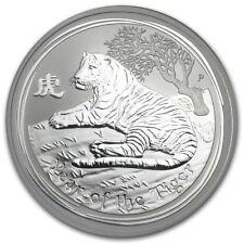 2008-2009-2010 Australia Silver Lunar Mouse, Ox, Tiger (Three 1 OZ coins).