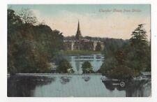 Clumber House From Bridge Nottinghamshire Vintage Postcard 847b