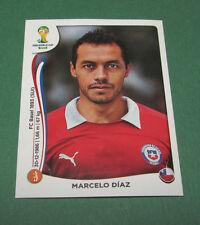 N°158 MARCELO DIAZ CHILE CHILI PANINI FOOTBALL FIFA WORLD CUP BRAZIL 2014 BRASIL