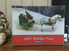 2001 Breyer Holiday Christmas pony horse with sleigh set 700401