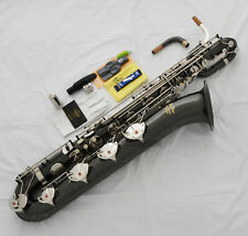 Professional Black Nickel Silver Baritone saxophone Sax Germany Mouth With Case