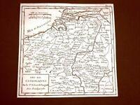Pays Bas Catholiques Olanda Settecentina Carta geografica del 1750 De Vaugondy
