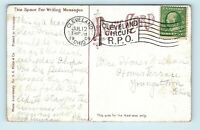 1909 CLEVELAND OHION CIRCUIT RPO POSTMARK FLAG CANCEL ON CEDAR POINT POSTCARD