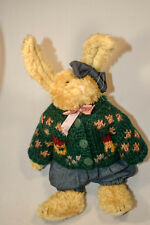 Boyds Bears: Sarah Rabbit - 9 inch Plush - Sweater, Jeans, Bow and Pink Ribbon