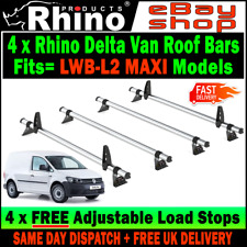 VW Caddy MAXI Roof Rack Bars x4 Rhino Used For Ladders To Fit 2015-2018 Van