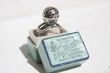 VINTAGE 925 SOLID SILVER RING MODERNIST ARTS CRAFT GEORG JENSEN STYLE GOLF BALL