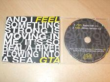 GTA - Feel (CD) 2 Tracks + Video - Mint - Fast Postage
