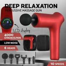 Massage Gun LCD Massager 6 Heads Vibration Muscle Tissue Percussion Therapy