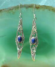 Pendiente Lapislázuli Azul 2 Sich en el Tanze -que Se Inclina Grúas