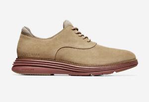 Men Cole Haan ØriginalGrand Ultra Plain Toe Oxford Shoes Suede/ Brick red C32065
