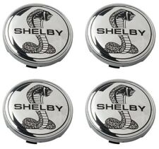 "Ford Mustang 60mm Chrome SHELBY Center Caps SVT Cobra GT 2 3/8"" YEARS: 2005-2014"