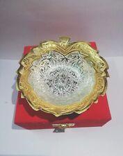 Leaf Designer Gold Brass Silver Serving Bowl Set For Home Decoration