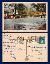 CANADA ONTARIO SWIMMING POOL WONDERLAND PARK POSTED 1951 TO ST MARYS, OHIO