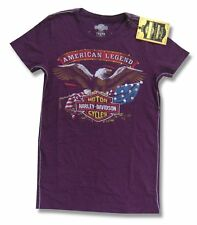 HARLEY DAVIDSON TRUNK LTD TRUE AMERICAN LEGEND GIRLS JUNIORS PURPLE SHIRT S NEW
