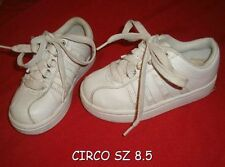 NICE GIRLS CIRCO SIZE 8.5 WHITE LACE UP FASHION SNEAKR SHOES