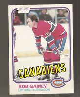 1981-82 O-Pee-Chee Bob Gainey #176 (Buy 5 $3.00 Cards Pick 2 Free)
