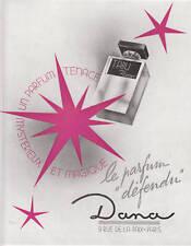 Publicité ancienne parfum Tabu Dana 1947 issue de magazine